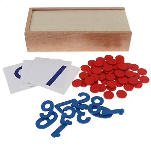 Homyl Mathematik Material Zahlenkarten 1-10 Rechnen Lernspielzeug für Kinder