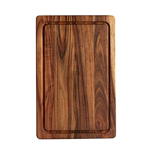 jalz jalz Wooden Cutting Board for Kitchen Acacia Wood Chopping Board for Meat, Vegetables, Fruit & Cheese, 15x10 Inches