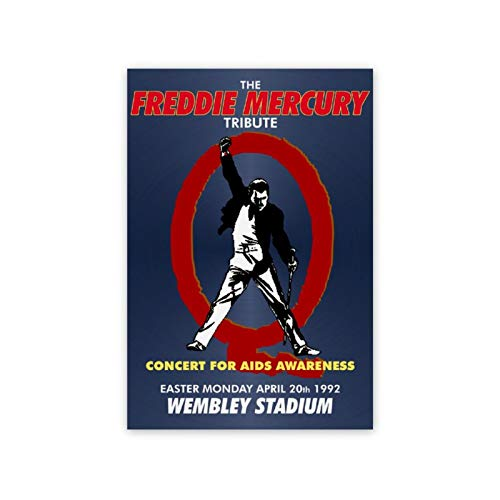 Wall Art Painting on Canvas Poster Freddie_Mercury_Tribute_Book 8'x12' Picture Painting for Home Decoration