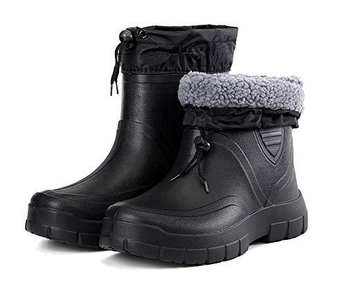 OOFAY Männer Warmen Schutz Eva Regen Stiefel, Männer Niedrige Rohr Plus Samt Stiefel, Leichte wasserdichte Schuhe DREI Anti-Arbeits-Schuhe, 39-45,42