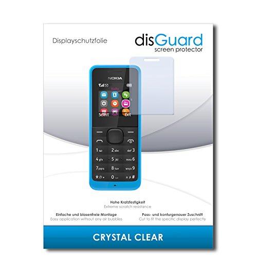 disGuard® Bildschirmschutzfolie [Crystal Clear] kompatibel mit Nokia New 105 Dual Sim [4 Stück] Kristallklar, Transparent, Unsichtbar, Extrem Kratzfest, Anti-Fingerabdruck - Panzerglas Folie, Schutzfolie