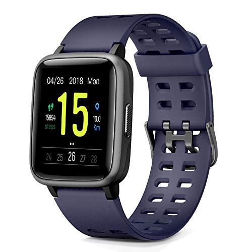 Glymnis Smartwatch Smart Uhr Sport Uhr Fitness Armband mit Schrittzähler Schlafanalyse Touchscreen 50 M Wasserdicht Armbanduhr 30 Tage Standby