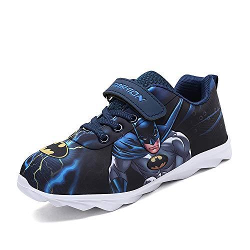 Kinderschuhe, Mode Junge Sportschuhe Batman Wasserdichtes Leder Atmungsaktives Mesh Casual Kinderschuhe Für Kleinkinder,30
