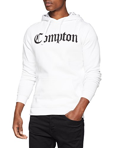 Mister Tee Herren Kapuzenpullover Compton Hooded Bandana Hoodie, White, M