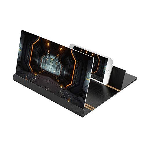 Bearcolo Video versterker van de 3D-HD-film, mobiele telefoon scherm vergrootglas mobiele telefoon projector vergrote versterker compatibel met iPhone en Android 26,2 * 19,2 cm #05