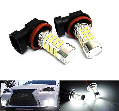 2 ampoules blanches H11 H8 40 W LED pour feux de position, feux de circulation diurnes, feux de brouillard RZG