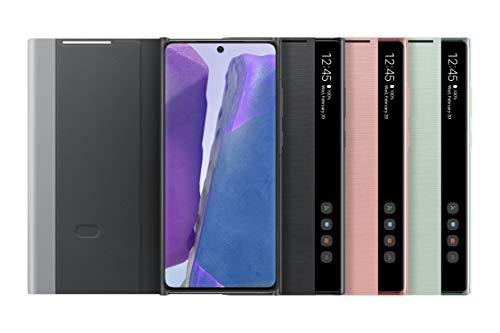 Samsung EF-ZN980CBEGEW Clear View Cover per Galaxy View 20 | Note20 5G, Nero (Mystic Black) - 6.7 pollici