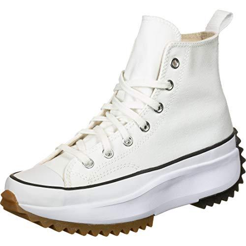 Converse Men's Run Star Hike High Top Sneakers, White/Black/Gum, 9 Medium US