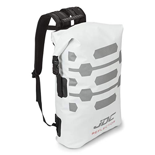 JDC Motorrad Rucksack 100% wasserdichte Tasche 30L - Reflector - Weiß