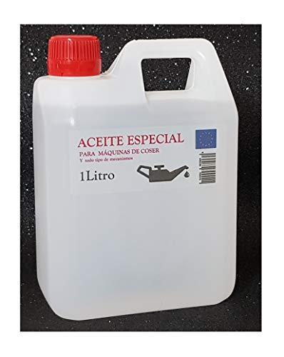 Aceite maquina de coser. Especial Incoloro - Lubricante para Maquinas de Coser y mecanismos varios. 1 Litro (830 gramos)