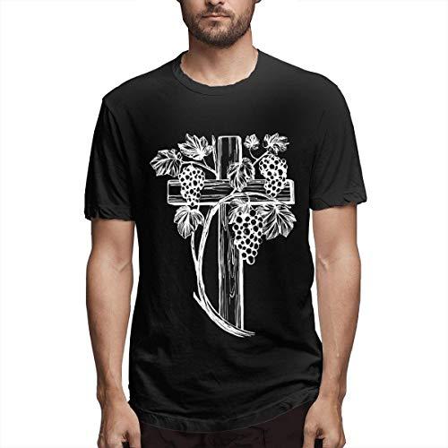 Camisetas Personalizadas Casuales para Hombre The Cross and The Vine de Manga Corta,5XL