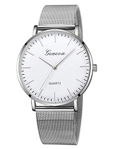 Reloj Silver Watch con Correa de Acero, para Mujer