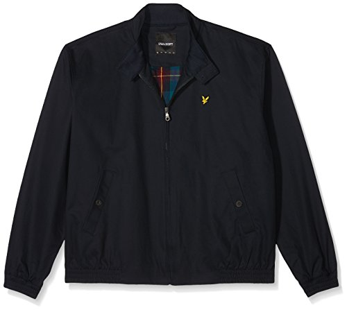 Lyle & Scott Plus Size Plus Size Harrington Cappotto, Blu (Navy Jacket), X-Large Uomo