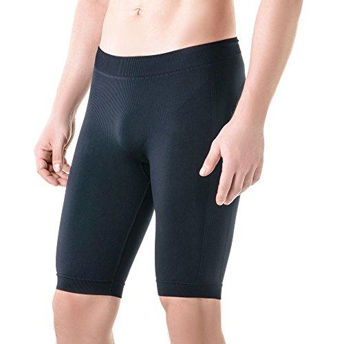 Pure Compression - Yoga-Shorts für Herren in Schwarz, Größe S-M