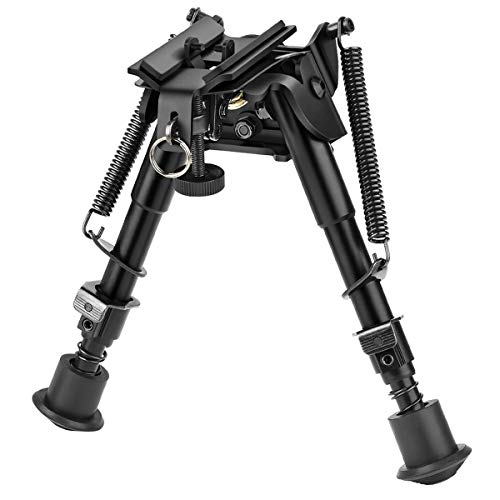 CVLIFE 6-9 Inches Rifle Bipod Pivot Bipod with S Lock Bipod for Rifle