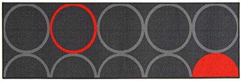 ABC Alfombra La Cucina Opty Gris/Naranja 57 x 200 cm