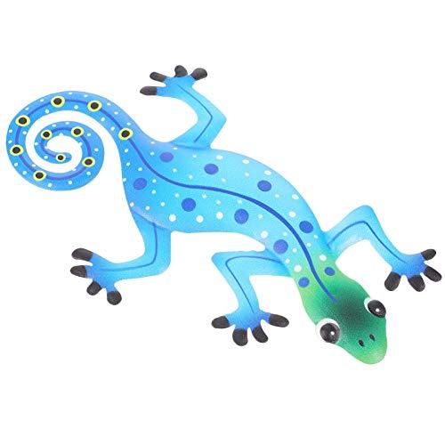 Holibanna Métal Lézard Mur Art Décor Inspiré Gecko Suspendus Mur Art Sculpture Intérieur Extérieur Accueil Jardin Pelouse Décor