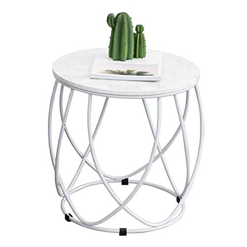 Small Coffee Tables Living Room Small Marble Side Table Wrought Iron Coffee Table, Round, Creative Small Apartment Living Room Simple Small Coffee Table Round Table, Living Room ( Color : White )
