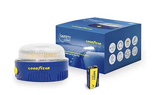 Goodyear Luz de Emergencia v16 para Coches y Motos Safety Light. LED, homologada por la DGT. Baliza Luminosa. Base imantada