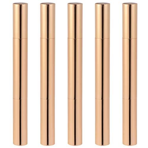 FRCOLOR 5 Pcs 3 M Vide Twist Stylos Pinceau Pointe Nail Stylo à Huile Rechargeable Lip Gloss Stylo Croissance Des Cils Liquide Tube Stylo pour Filles Femme