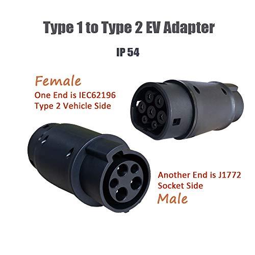 K.H.O.N.S. Adaptador EV Cable de Carga para Vehículos Eléctricos Tipo 1 a...