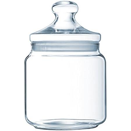 Luminarc - Bocal en Verre Club - Look Vintage - Pot à Fermeture Hermétique - Conservation Produits Secs - 100% Sain pour les Aliments - Sans Bisphénol A - Passe au Lave-Vaisselle - Contenance 1,5 l
