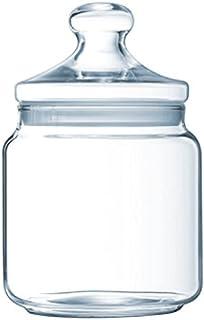 Luminarc - Bocal en Verre Club - Look Vintage - Pot à Fermeture Hermétique - Conservation Produits Secs - 100% Sain pour l...