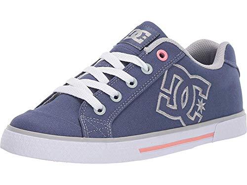 DC Women's Chelsea Low Top Casual Skate Shoe, Blue/Grey, 8.5 M US