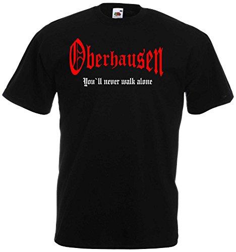 World of Shirt Herren T-Shirt Oberhausen You`ll Never Walk Alone