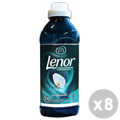 LENOR Set 8 Weichspülerkonzentrat smaragd / Woll 650 ml.