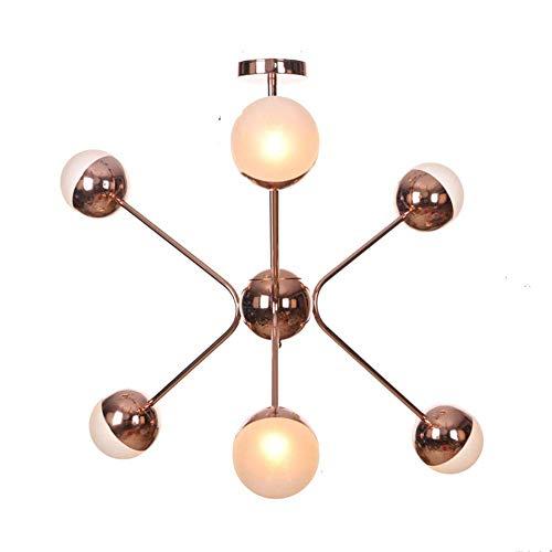 Lámpara de araña Sputnik creativa, comedor moderno durante las luces, lámpara colgante de metal nórdica G4 para cocina, sala de estar, dormitorio
