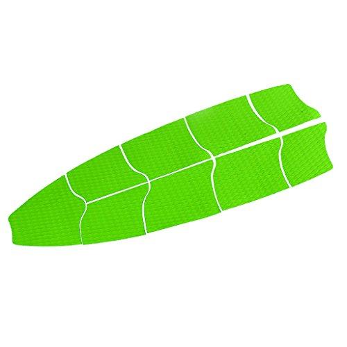 SM SunniMix Bulk 9 Sup Traction Pad, Stand Up Paddle Board Deck Grip - Hoja Antideslizante Y Recortable DIY - Gran Adición A Las Tablas - 6 Colores para Elegir - Verde