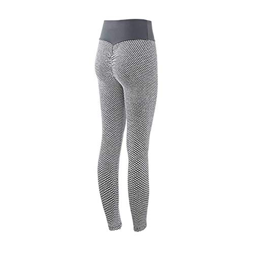 ZGHYBD Sexy Shark Scales High Waist Leggings High Waist Yoga Pants Women Bubble Hip Butt Lifting Leggings (l,Gray)