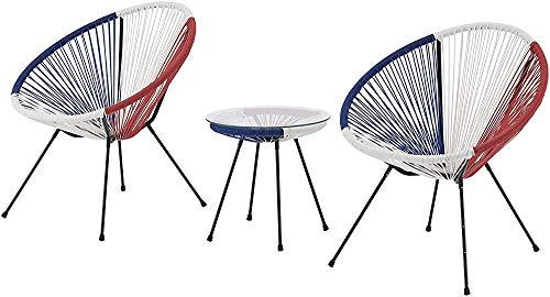 Silla redonda, aspecto retro, marco de acero resistente, muebles de jardín, al aire libre terraza de la habitación,A