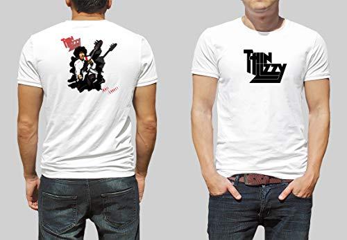Camiseta Thin Lizzy Serie Bandas (P, BRANCA)