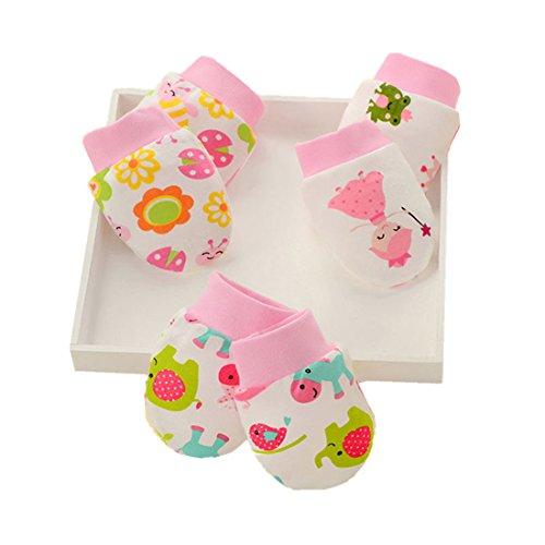 LOVARTS BEAUTY Baby Handschuhe F/äustlinge Neugeboren M/ädchen Junge Kratzhandschuhe aus Baumwolle gegen Kratzen
