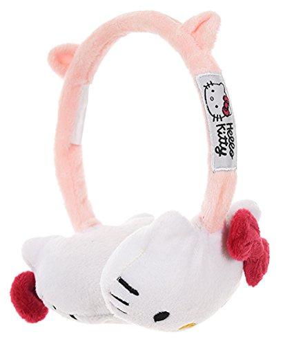 Paraorecchie per bambina, motivo: Hello Kitty rosa e bianco, taglia unica (rosa)