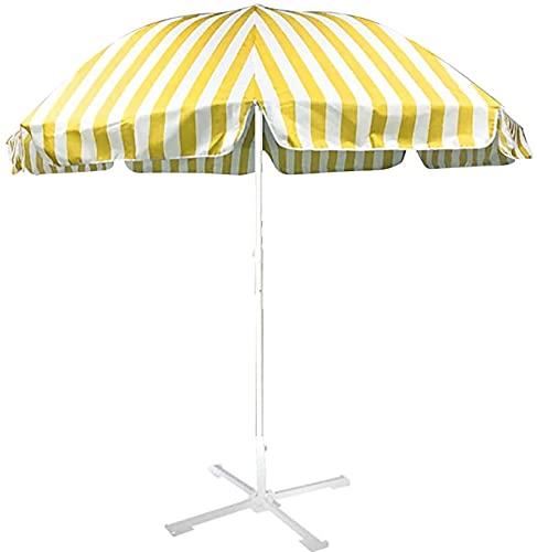 FENGNV sombrilla Playa Parasol al Aire Libre Parasol Protección UV Impermeable Playa/Piscina/Patio Carpa Parasol sombrilla Playa Grande antiviento