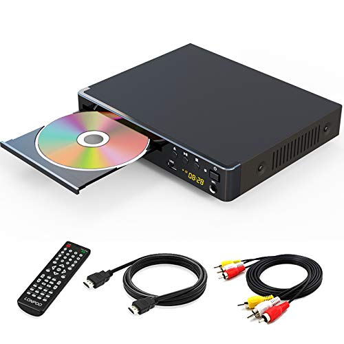 LONPOO 1080P DVD Player All Regions Free with HDMI for TV, USB & Karaoke Port, PAL/NTSC/Auto Conversion Compatible
