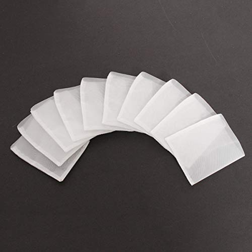 Find Bargain Cvmnkljfger Mesh Cloth 90u 10pcs Rosin Extraction Press Heat Filter Bags Nylon White 63...
