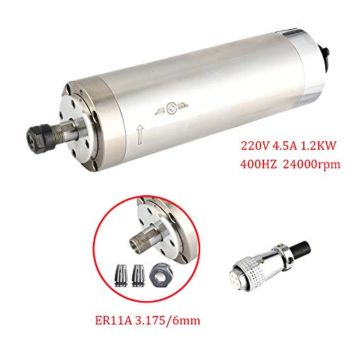 New 1.2kw Water Cooled Spindle Motor 220V 24000~60000RPM ER11 Collet for CNC Router, Engraving Machi...