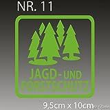 1A Style Sticker Jagd -und Forstschutz Aufkleber