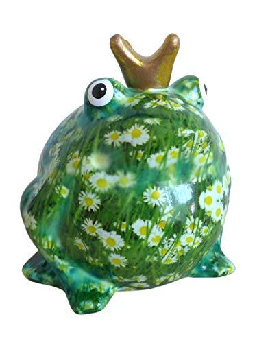 N / A Süße Spardose Froschkönig greenline mit Gänseblümchen Pomme Pidou Frosch