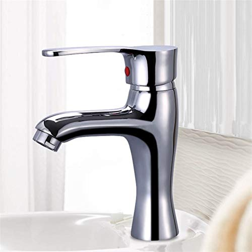 Vinteen Faucet Grifos de Lavabo de latón Taps de hogar práctico Manija de una Sola manija de un Solo Orificio de Agua Caliente y frío, Mezcla, Grifo, baño, Lavabo, Lavabo, Toque de Agua