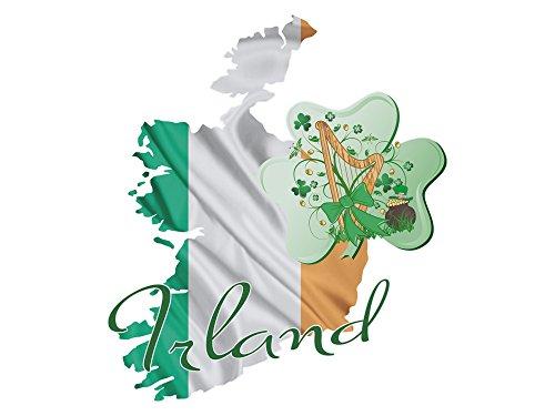 GRAZDesign wandtattoo Ierland - wandsticker Dublin / 721694 46x40cm