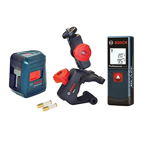 BOSCH Laser Measure and Self-Leveling Cross-Line Combo Kit
