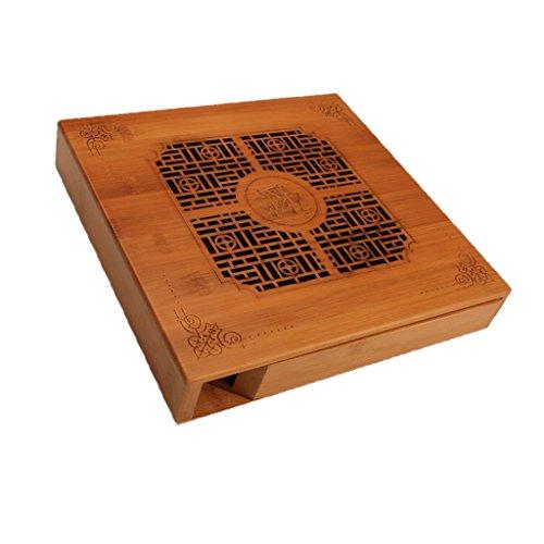 Sharplace Plateau De Service de Thé en Bambou Chine Kungfu Table De Thé