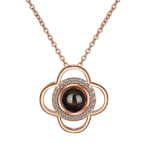 lffopt Flower Necklace Necklace for Women Necklace for Birthday Lucky Necklace Unusual Necklace Necklace for Girlfriend Classic Necklace Rose Gold