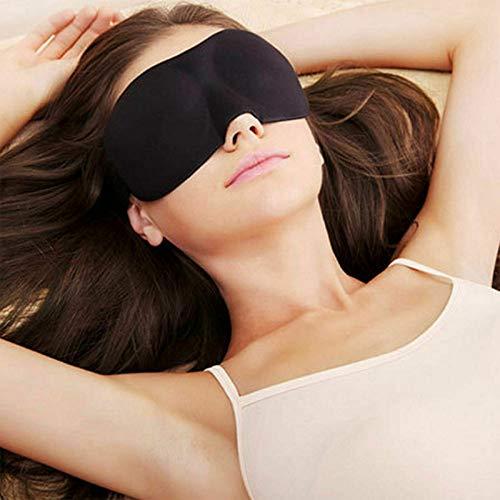 2 pezzi 3D morbido imbottito benda oscurante, maschera per gli occhi da viaggio e riposo per il sonno