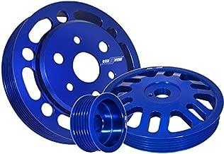 Fit 2012-2014 Subaru BRZ/Toyota FRS 3 Pieces Aluminum Water Pump/Alternator/Crank Pulley Wheel Kit Blue